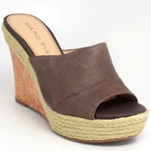 Marc Fisher Women's Leather Turnip Wedge Heel 8